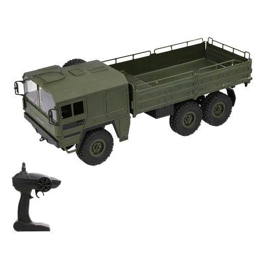 JJR / C Q64 1:16 RC Caminhão Militar Off-Road 2.4G 6WD Car com Luzes da cabeça 500g de Carga RC Pickup Car Gift