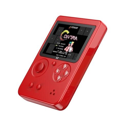 561-X2 Nostalgische 2,8-Zoll-LCD-Handheld-Spielekonsole Eingebaute 2500 NES FC GBA-Spiele
