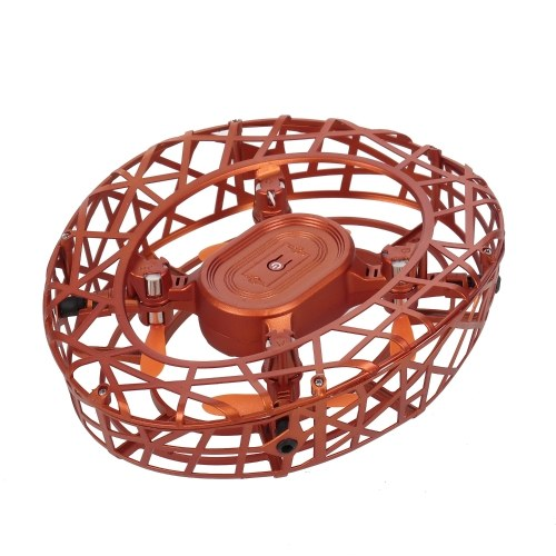 ATTOP F6 Scoot Hand Operated Drones Hands Free Mini Drone Infrared Induction 360° Rotating LED Lights