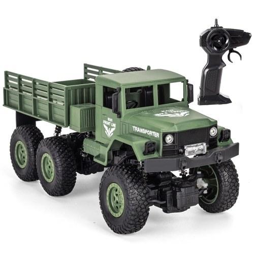 JJR / C Q69 2.4GHz 6WD 1/18 RC Caminhão Militar Off-Road RC