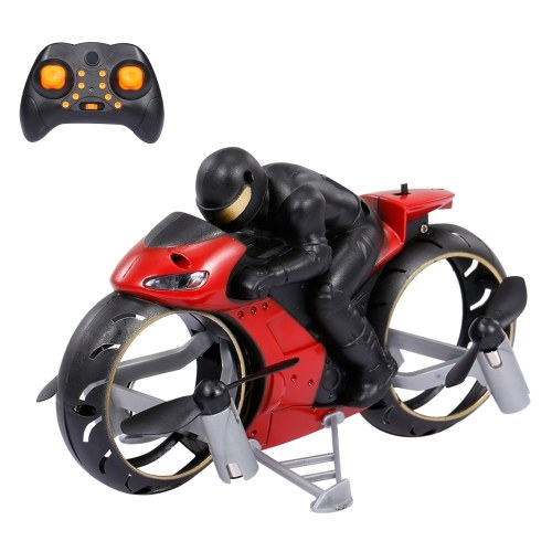 2.4G 2 in 1 RC Stunt Drone RC Drone Motorcycle Mini RC Quadcopter Land Air Dual Playing Drone