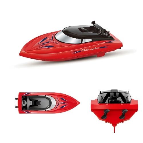 10KM / H haute vitesse 2 canaux bateaux télécommandés pour piscines bateau de course
