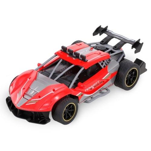Carro RC 1/12 Carro de corrida de alta velocidade 18km / h 2.4GHz 4CH RC Buggy Drift Car RC Flat Car com luz e spray