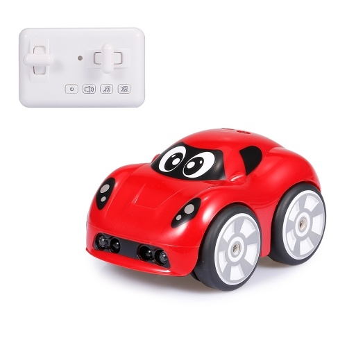 2.4G Mini Car Object Avoidance Follow Mode Track Drive Sound Effects 360 Degree Rotation Remote Control Car