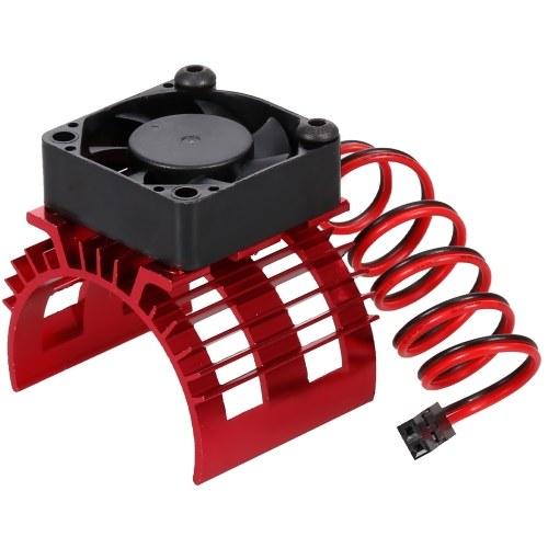 Cubierta del disipador de calor del motor de aleación de aluminio con ventilador de refrigeración para 540550 Motor cepillado 3650 Motor sin escobillas para WLtoys A959-B A979-B 144001 124019 1/12 / 14 RC Car