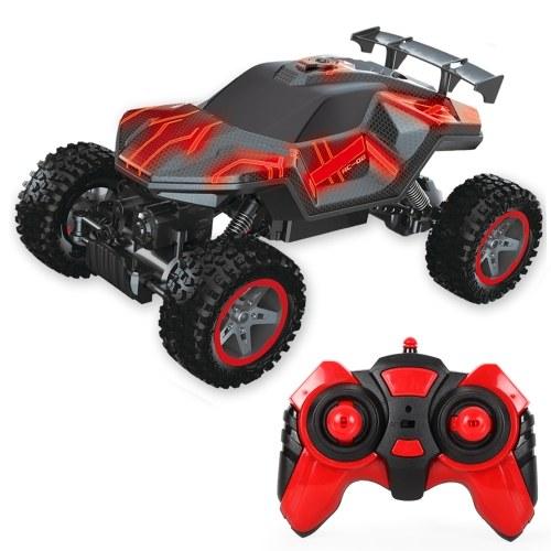 2.4GHz 1/16 4WD RC Rock Crawler LED One Key Spray RC Car Off-road Climbing Car Toy Image