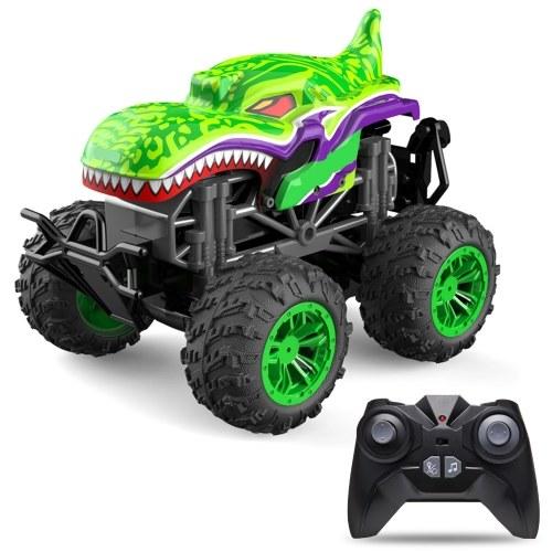 RC Spray Car 1/18 RC Car 2.4Ghz Stunt Car Remote Control Stunt Vehicle Toys with Rear Fog Stream Music LED Light Auto-Play RM13862GR