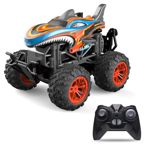 RC Spray Car 1/18 RC Car 2.4Ghz Stunt Car Remote Control Stunt Vehicle Toys with Rear Fog Stream Music LED Light Auto-Play RM13862R