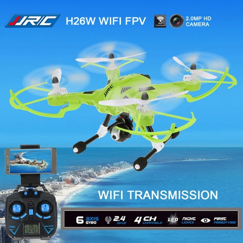 Original JJRC H26W 2.4G 4CH 6 Axis Gyro RC Quadcopter Wifi FPV Real-time Transmission Drone with 2.0MP HD Camera