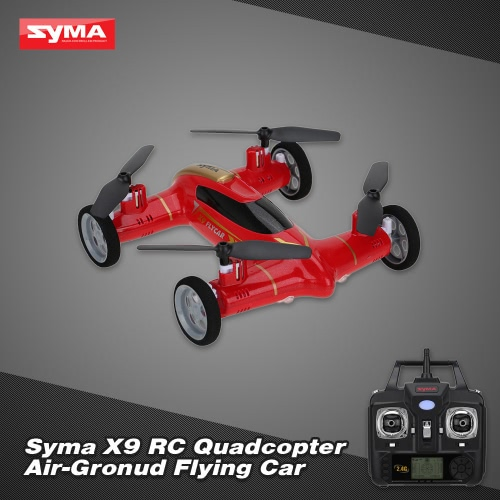 Original Syma X9 2.4G 4CH 6-Axis Gyro RC Quadcopter Air-Ground Flying Car with 360 Degree Flips Function