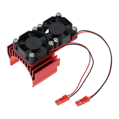 7019 1/10 HSP RC 車 3650 540/550 モーター用の 2 つの冷却ファンとヒートシンクのモータします。