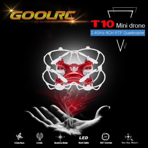 GoolRC T10 RC Quadcopter 2.4G 4CH 6-Axis Gyro  Mini UFO Drone with 3D Flips CF Mode Auto-return