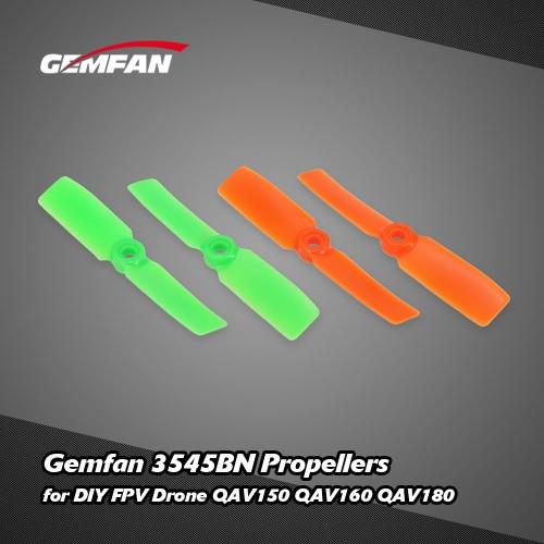2 Pairs Original RC Part Gemfan 3545BN Propellers for DIY mini Race FPV Drone QAV150 QAV160 QAV180