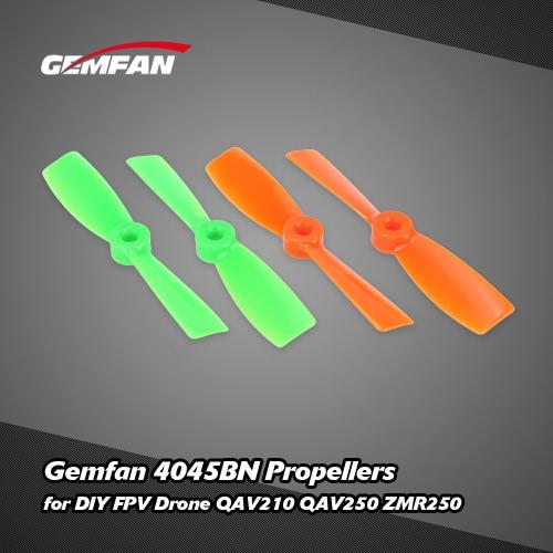 DIY ミニ レース FPV ドローン QAV210 QAV250 ZMR250 用 2 組オリジナル RC パーツ Gemfan 4045BN プロペラ