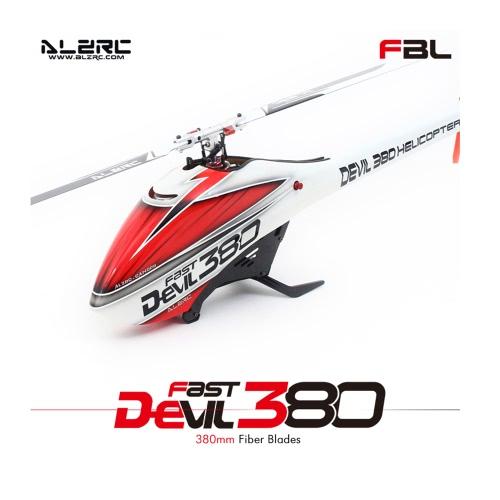 Original ALZRC Devil 380 FAST Flybarless Belt Drive 6CH 3D Helicopter Combo Set with 1000KV Motor 60A ESC