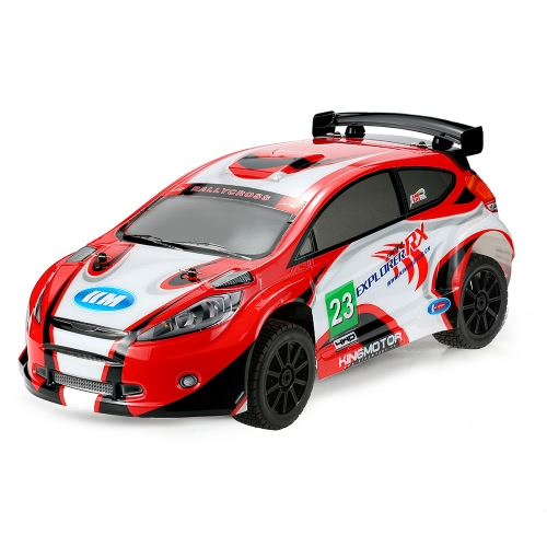 Original KM-Explorer RX II 1/7 2.4G 4WD Electric Brushless High Speed RC Rally Racing Car with E8350 Engine Sound System