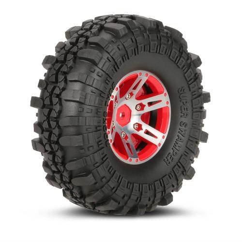 4Pcs AUSTAR AX-4020B 1,9-дюймовые 110 мм 1/10 скальные гусеничные шины со сплавом Beadlock Wheel Rim для D90 SCX10 AXIAL RC4WD TF2 RC Car фото