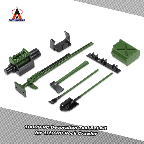 6Pcs AUSTAR 10008 RC Decoration Tool Set Kit RC Accessories for 1:10 RC Rock Crawler