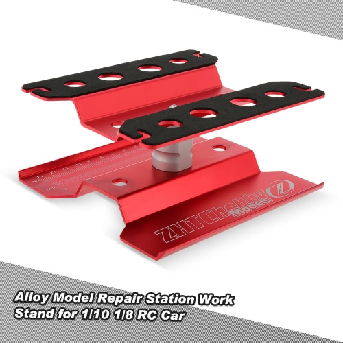 Alloy Model Repair Station Work Stand Rotate 360° for 1/10 1/8 Traxxas Tamiya CC01 RC4WD Axial SCX10 HSP HPI RC Car