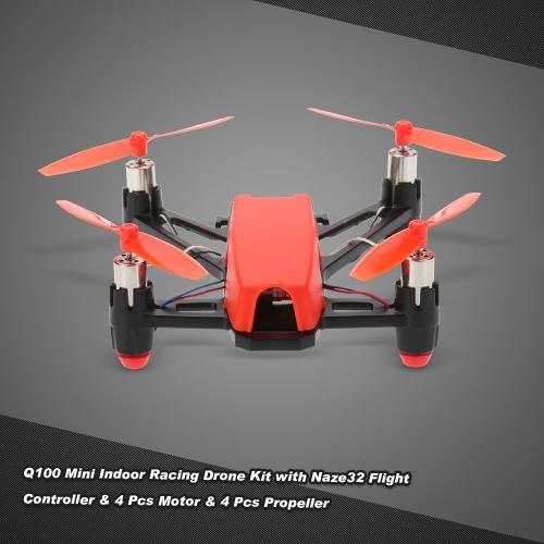 Q100 Super Mini 4-Axis Micro FPV Racing Quadcopter Frame Kit with Naze32 Flight Controller 4pcs 8520 Motor and 4pcs 65mm Propeller