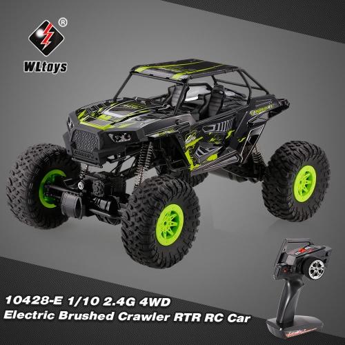 Original WLtoys 10428-E 1/10 2.4G 4WD Electric Brushed Crawler RTR RC Car