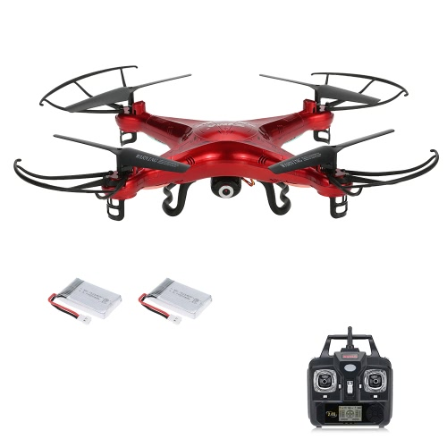 Original Syma X5C 2.4GHz 4CH 6-Axis Gyro RC Quadcopter 2.0MP HD Camera Drone with One Extra Battery RTF