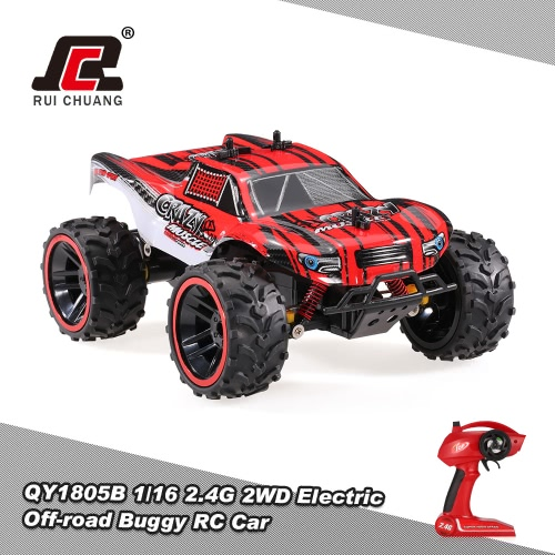 RUI CHUANG QY1805A 1/16 2.4G 2CH 2WD Electric Off-road Buggy Short Course Pick-up Truck RC Car
