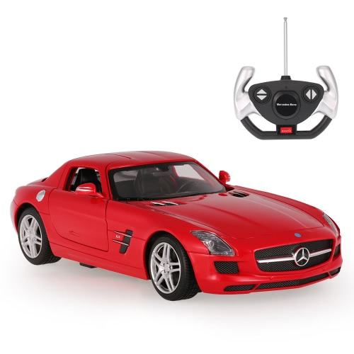 Originale RASTAR 47600 27MHz 1/14 Mercedes-Benz SLS AMG RC Super Sports Car Simulation Model con porta a scomparsa