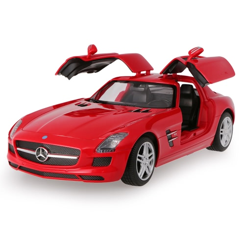 Original RASTAR 47600 27MHz 1/14 Mercedes-Benz SLS AMG RC Super Sports Car Simulation Model with Retractable Door