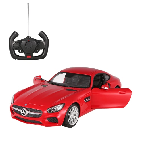 RASTAR 74000 27MHz 1/14 Mercedes-Benz AMG GT RC Supersportwagen Simulationsmodell mit Fernbedienung Tür