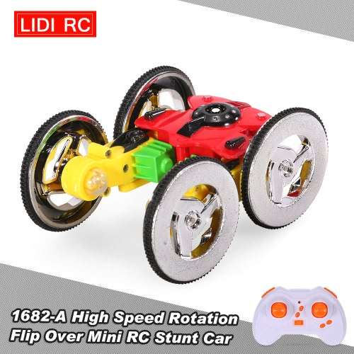 LiDiRC 1682-B High Speed Rotation Flip Over Mini RC Stunt Car
