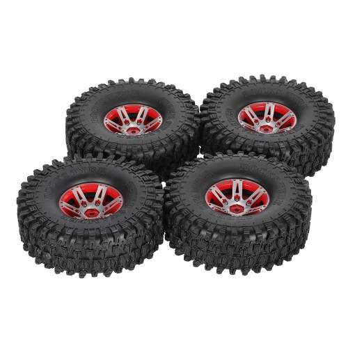 4Pcs AUSTAR AX-5020B 1.9 Inch 1/10 Rock Crawler Tires with Metal Hub for Traxxas Redcat SCX10 AXIAL RC Car