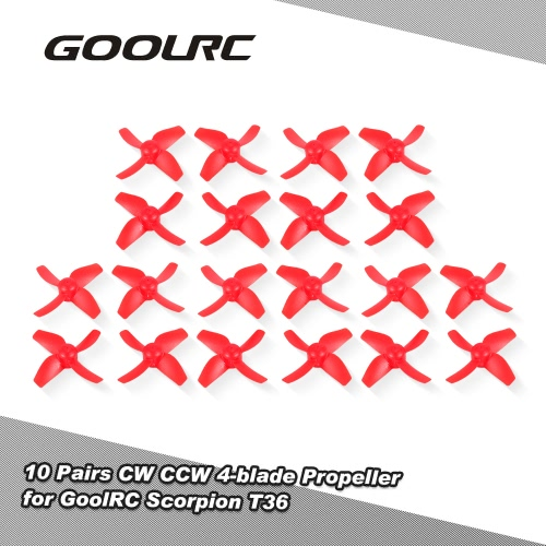 10 Pairs CW CCW 4-blade Propeller for GoolRC T36 H36 Blade Inductrix BLH8700 BLH8580 NH-010 E010 Drone Quadcopter