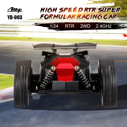 Attop YD-003 1/24 2.4GHz Super Formula Waterproof RC High Speed Racing Drifting Car RTR