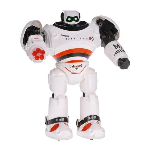 JJR / C R1 Inteligente Programable de Paseo de diapositivas Disparo de Misiles Dancing Robot de control de infrarrojos