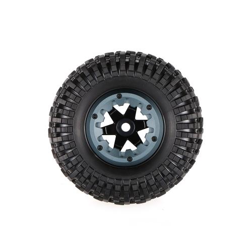 2pcs 1.7 Inch 128mm Rock Crawler Wheel Rim and Tire