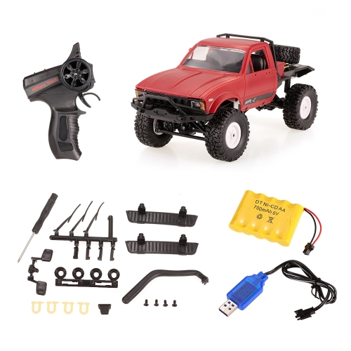 WPL C14 1/16 2.4GHz 4WD RC Crawler Off-road Semi-truck Car with Headlight RTR Image
