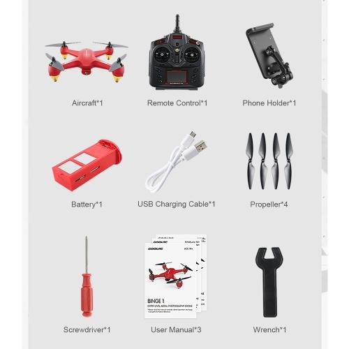 GoolRC Binge 1 2.4G 4CH Wifi FPV RC Quadcopter Selfie  Altitude Hold Drone - RTF