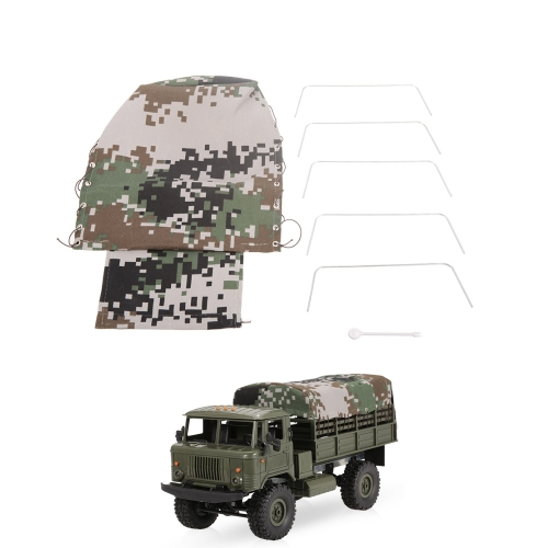 Canvas Truck Hood Cover for WPL B-24 1/16 RC Military Truck Rock Crawler