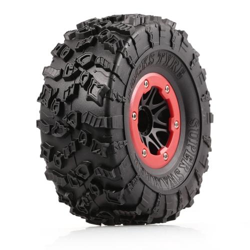 4 stücke AUSTAR AX-4021E 132mm 2,2 zoll Felge Gummi Reifen Radsatz für Axial SCX10 RC4WD D90 1/10 RC Rock Crawler Auto