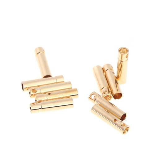 10 Pairs 3.0mm Copper Bullet Banana Plug Connectors Male + Female for RC Motor ESC Battery Part (3.0mm Banana Plug)