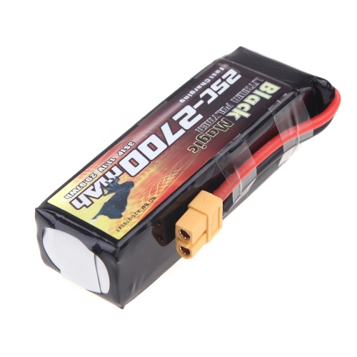 Black Magic 2700mAh 11.1V 25C LiPo batterie XT60 enfichable pour DJI Phantom Quadcopter Batterie (DJI Phantom Quadcopter batterie, 2700mAh 11.1V Batterie LiPo)