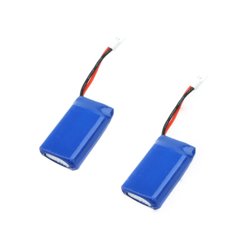 2 Pcs Walkera Upgrade Spare LiPo Battery 3.7V 380mAh 25C for Walkera Mini/Genius/Supper CP 6CH 3D Helicopter