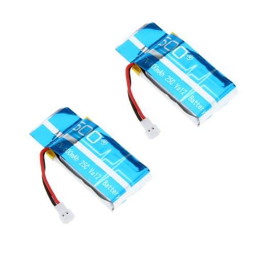 2 Pcs LiPo Battery 3.7V 600mAh VA12 for Syma X5C X5A Explorers Quadcopter
