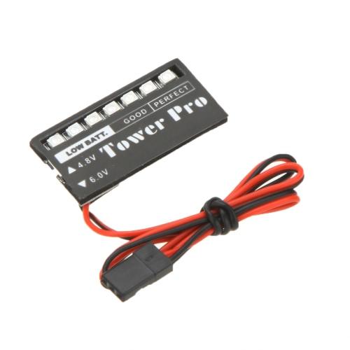 Torre modelo RC Pro 4.8V-6V batería voltaje indicador Monitor coche de 7 LED receptor