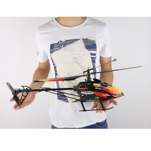 Originale WLtoys V913 Brushless versione di aggiornamento 4Ch rtf 70 centimetri 2.4GHz incorporato Gyro Flight Super Stable