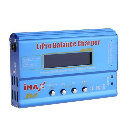 Novo IMAX B6 80W Lipo NiMh do Li -íon Ni-Cd bateria do RC equilíbrio Digital carregador descarregador