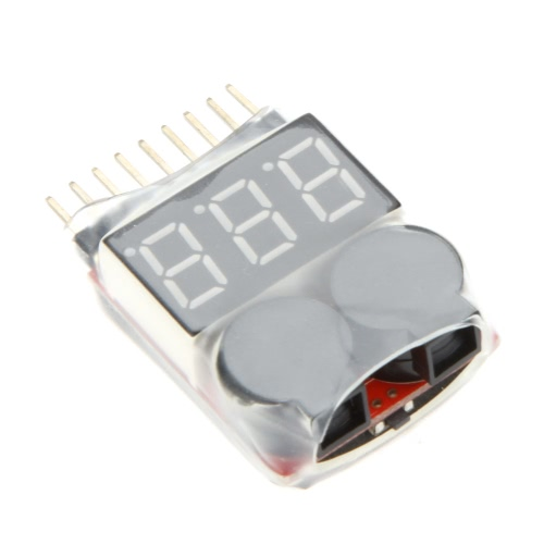 Original Vistapower 1-8S Digital Display Indicator RC Li-ion Lipo Battery Tester Low Voltage Buzzer Alarm