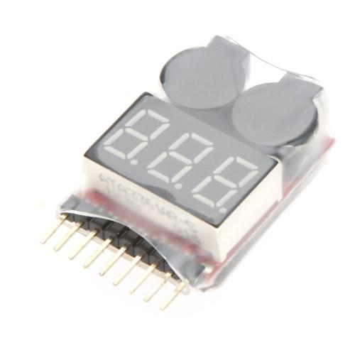 Original Indicatore della Vistapower 1-8S Digital RC Li-ion Lipo tester bassa tensione della batteria Buzzer Alarm