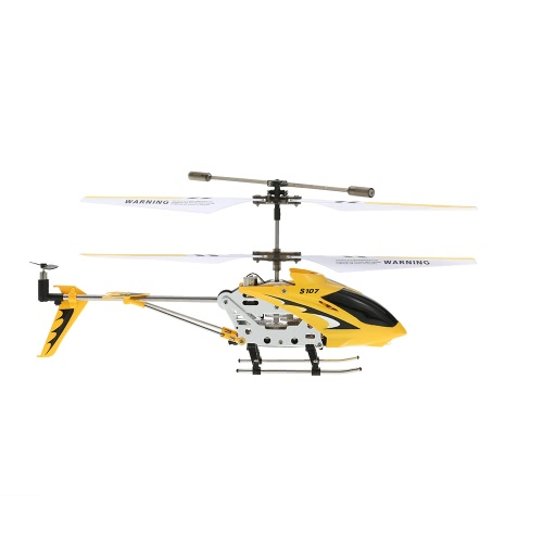 Syma S107G Mini Czerwony 3-kanałowy podczerwień RC R / C Helikopter z podwójną ochroną Gyro